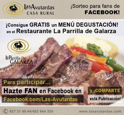 Consigue GRATIS un MENÚ DEGUSTACIÓN en el Restaurante La Parrilla de Galarza