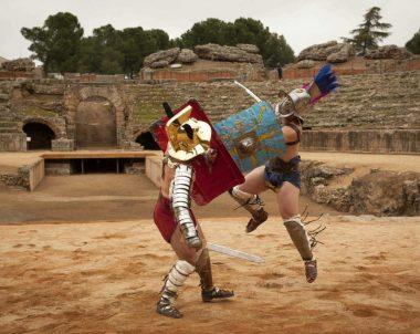 Representacion en el anfiteatro romano