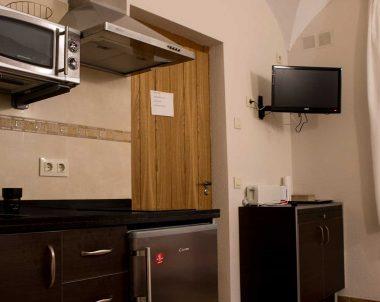Coqueto salón - cocina, perfecto para preparar un día de aventuras